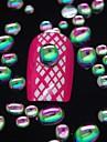 100st slumpmässig färgmix storlek 3d nail art dekoration