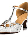 Women\'s Sparkling Glitter Upper Sequin Ballroom Samba Shoes Sandals(More Colors)