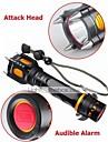 LED-Ficklampor Läge 1000 Lumen Justerbar fokus / Laddningsbar / Stöttålig / Greppvänlig / Strike Bezel XM-L2 T6 18650