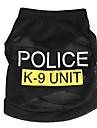 Pisici Câini Tricou Îmbrăcăminte Câini Vara Primăvara/toamnă Polițist/Militar Drăguț Modă Negru Albastru Roz