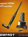 comfast® cf-wu760nl 150m usb wifi-adapter för trådlöst nätverk med antenn stöd hdtv-svart