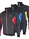 ARSUXEO Cycling Jacket Men\'s BikeBreathable / Anatomic Design / Windproof / Reflective Strips / Back Pocket / Fleece Lining / Thermal /