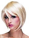 atractivo del club de la reina de oro corta 27cm rizado fiesta de halloween peluca de las mujeres