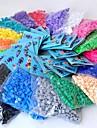 ca 500st / väska 5mm säkrings pärlor Hama Pärlor DIY sticksåg eva material safty för barn (blandade 6 färg, b17-b24)