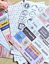 Poststämpel ordet scrapbooking dekorera klistermärken (6st)