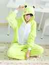 Kigurumi Pyjamas Groda Trikå/Onesie Festival/högtid Pyjamas med djur halloween Grön Lappverk Polär Ull Kigurumi För UnisexHalloween Jul