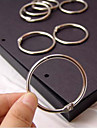 accessoires de bricolage album anneaux metalliques fixes (3 pieces)