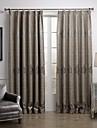 european två paneler geometrisk grå vardagsrummet linne / blanda skira gardiner nyanser