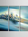 IARTS®Hand Painted Oil Painting Abstract Roaring River with Stretched Frame Set of 3