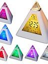 coway 7 conduit couleurs changeantes pyramide en forme numerique reveil calendrier thermometre veilleuse
