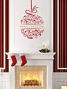zooyoo® pvc forme mignonne colore amovible noel lanterne de stickers muraux et stickers muraux pour la decoration interieure