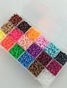 environ 18 * 300pcs 18 mixtes couleur 5mm perles perles perles Perler fusibles hama safty eva materiel pour les enfants (jeu de b)