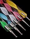 5 개는 다른 크기의 네일 아트 도구 2 웨이 네일 아트 찍는 펜 / 페인트 펜을 나사