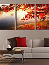 Stretched Canvas Print Art Landscape Tree by Lake Set of 3