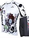 PALADIN® Cykeltröja med shorts Herr Kort ärm Cykel Andningsfunktion / Snabb tork / Ultraviolet ResistantCykeltröja + shorts /