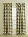 twopages® deux panneaux imprimes a carreaux salle de polyester assombrissement rideau