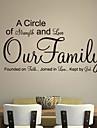 jiubai ™ familjen citat vägg klistermärke väggdekal