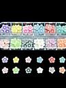 60st 12 färger liten blomma harts nail art dekoration