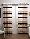 Două Panouri Tratamentul fereastră Modern , Dungi Sufragerie Poliester Material Sheer Perdele Shades Pagina de decorare For Fereastră
