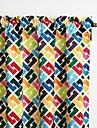 Philips jeunes - deux panneaux couleurs vives minimalistes contemporaines chevauchement rideaux de rideaux treillis