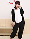 Unisexe Lazy Panda flanelle Kigurumi pyjama