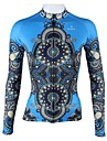 PALADIN® Maillot de Cyclisme Femme Manches longues Velo Respirable Sechage rapide Maillot Hauts/Tops 100 % Polyester Rayure ModePrintemps