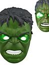 coola ljus ledde hulk mask för halloween (vita&grön)