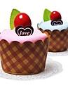 födelsedagspresent tårta form fiber kreativa handduk (slumpvis färg)