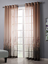 Two Panels Country Floral Botanical Living Room Bedroom Sheer Curtains Shades