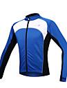 SANTIC® Veste de Cyclisme Homme Manches longues Velo Garder au chaud Pare-vent Doublure Polaire Zip frontal Veste Maillot Hauts/Tops