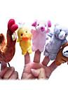 Fingerdocka Kyckling Anka Hundar Gris Tecknat Vackert Originella leksaker För pojkar För flickor Textil