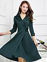 sottile elegante principessa abito plus size verde delle donne