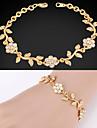 plaque or 18k platine mignons femmes fantaisie chaine bracelet bracelet strass cristal pour les femmes de haute qualite