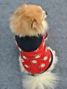 Katter / Hundar Huvtröjor Röd Hundkläder Vinter Tecknat Bröllop / Cosplay