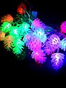 20-LED 4m pin decoration de Noel cone rgb la lumiere impermeable a l\'eau conduit la lumiere de chaine (220v)