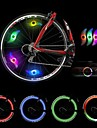 4pcs Colorful Transform Lights Hot Wheels Pattern for Cycling(Random Color)