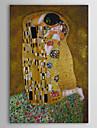 HANDMÅLAD Känd / Människor / Abstrakta porträtt olje~~POS=TRUNC,Klassisk En panel Kanvas Hang målad oljemålning For Hem-dekoration