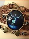 Bracelet bricolage infinie bijou t brun de chaine en cuir (1 pc)