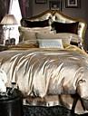 Shuian® Duvet Cover Set,4 Piece Suit Jacquard Fabric Comfort Simple Modern Bedings