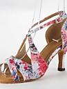 Chaussures de danse(Rose) -Non Personnalisables-Talon Aiguille-Satin-Latine