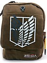 Sac Inspire par Attack on Titan Cosplay Anime Accessoires de Cosplay Sac / sac a dos Marron Toile / Nylon Masculin