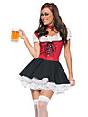 Sweet Beer Girl Red and Black Women\'s Costume(free size)