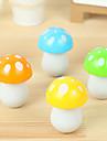 Motif mignon aux champignons retractee encre bleue Stylo a bille (couleurs aleatoires)