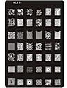 pre-designade nail art stämpling bildplatta nail art mall spik stencil nr.3