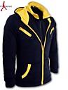 MANWAN WALK®Men\'s Fashion Hit Color Double Zipper Hoodie.,Plus Size(4XL)