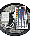 ZDM™ Waterproof 5M 300X5050 SMD RGB LED Strip Light with 44Key Remote Controller (DC12V)