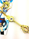 Bijoux Inspire par Fairy Tail Cosplay Anime Accessoires de Cosplay Colliers Dore Alliage Feminin