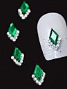 10st gröna markis 3d strass diy legering tillbehör nail art dekoration