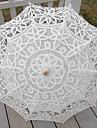 """Nuntă / Plajă / Zilnic / Mascaradă Dantelă / Bumbac Umbrelă 26""""(Approx.66cm) Metalic / Culoarea Lemnului 30.7""""(Approx.78cm)"""