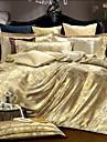 4 morceau de coton jacquard style royal couverture de couette